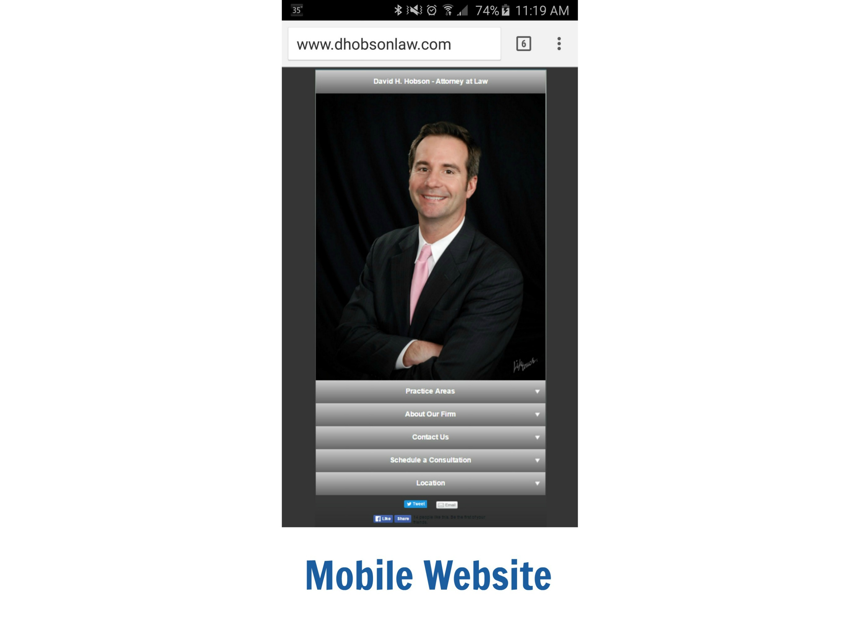 mobile website gallery